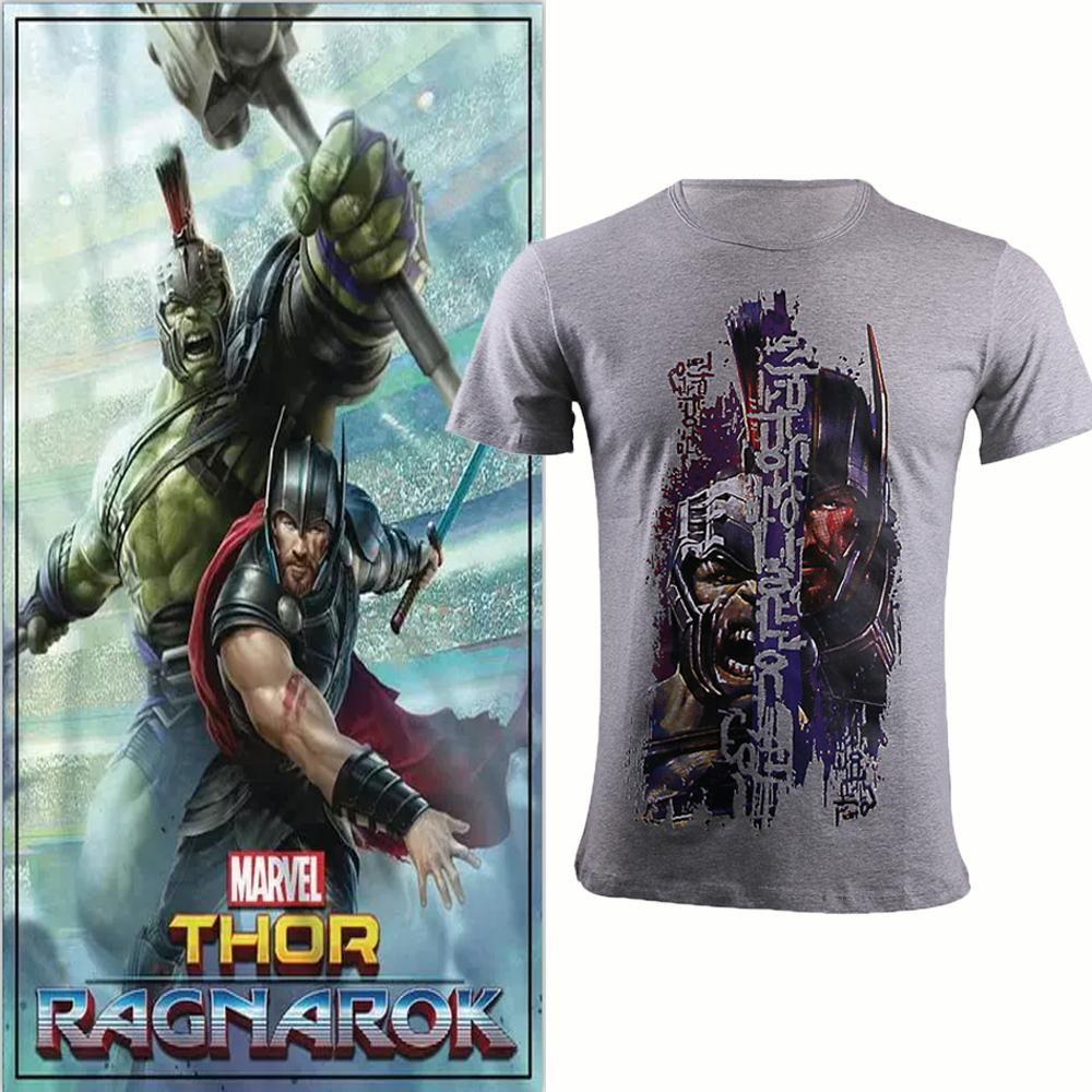 Thor: Ragnarok T-shirt Man 80% Cotton Short Sleeve Polyester Cosplay Tee Adult Boy Costume Halloween Party - bfjcosplayer
