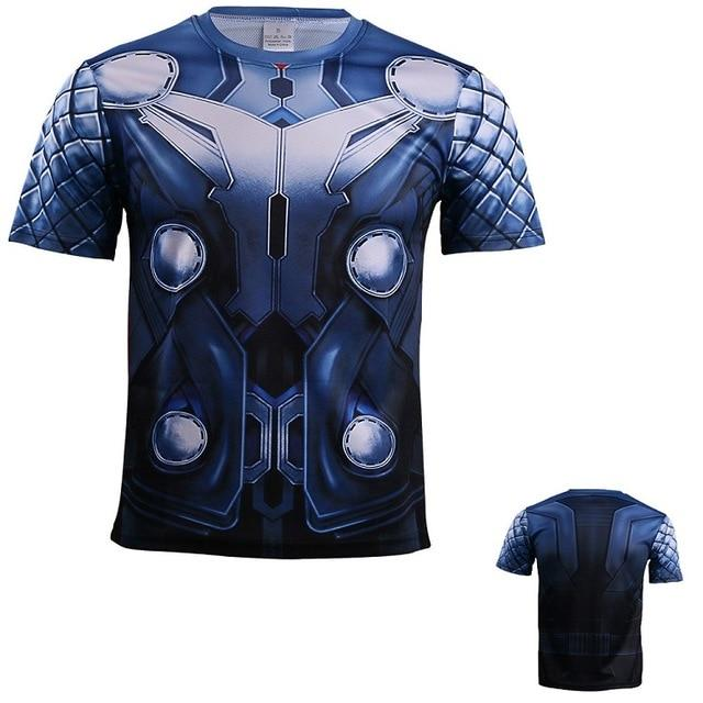2017 Movie Thor 3 Ragnarok Chris Heimsworth T-shirt Short Sleeve Tee Superman Polyester Man Boy Cosplay Halloween Party - bfjcosplayer