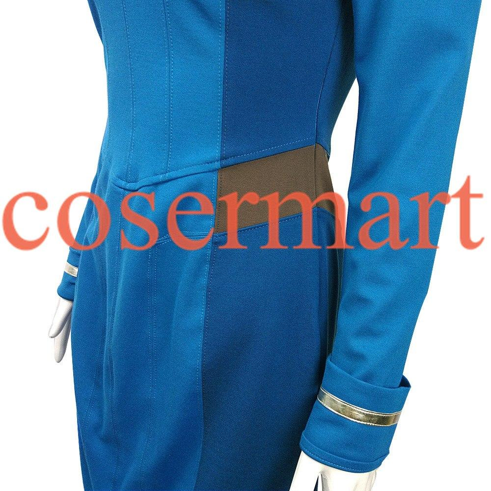 Star Trek Dress Star Trek Beyond Cosplay Costume Star Trek Blue Uniform Adult Women Halloween Cosplay Costume Free Badge - bfjcosplayer