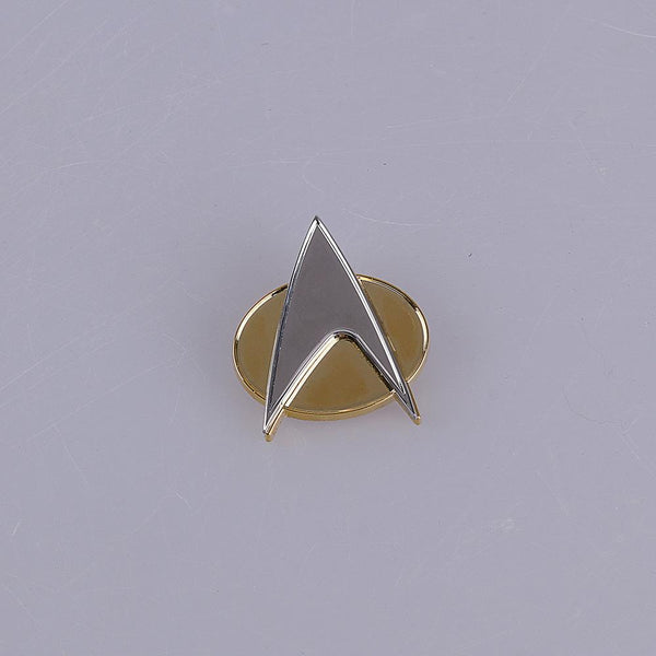 Star Trek Badge Voyager Communicator Next Generation Metal Badges Pin&Rank Pip/Pips 6pcs Set Cosplay Prop - bfjcosplayer