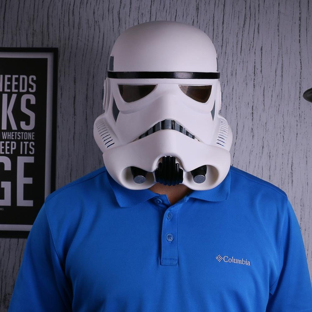 New Star Wars Helmet Stormtrooper Mask Wearable Cosplay Helmet Masks Full Face PVC Adult Party Prop - bfjcosplayer