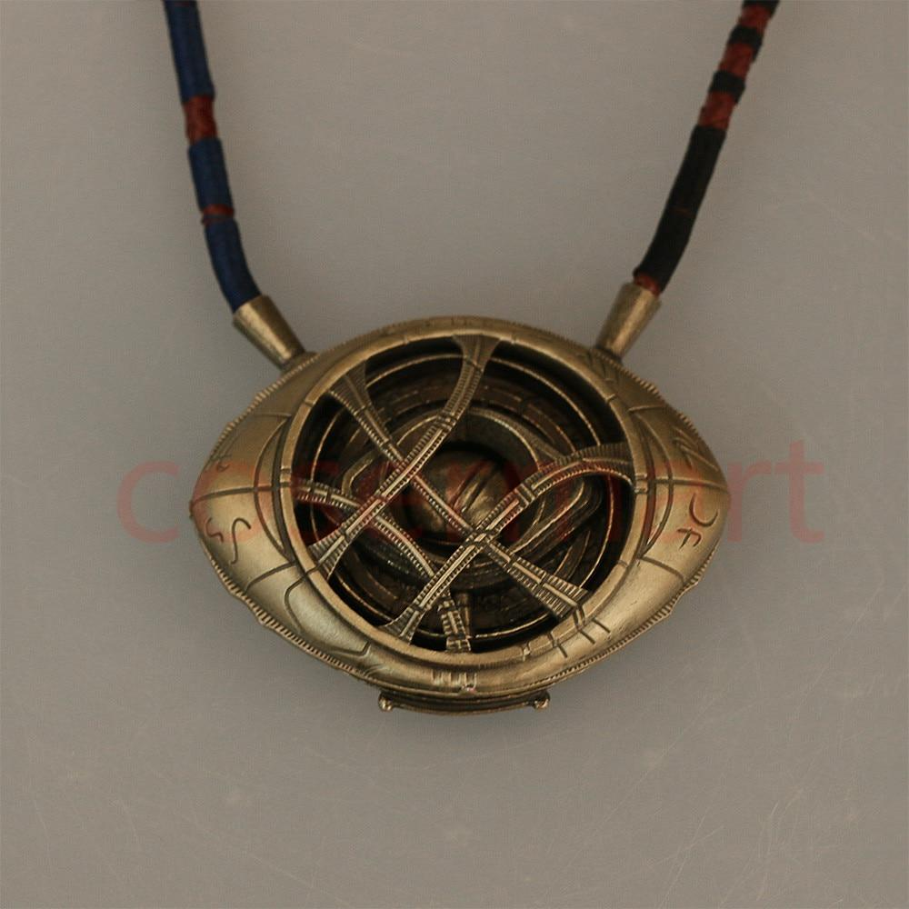 Doctor Strange Necklace Cos Steve Eye of Agamotto Necklace Eyes Can Open Cosplay Props New - bfjcosplayer