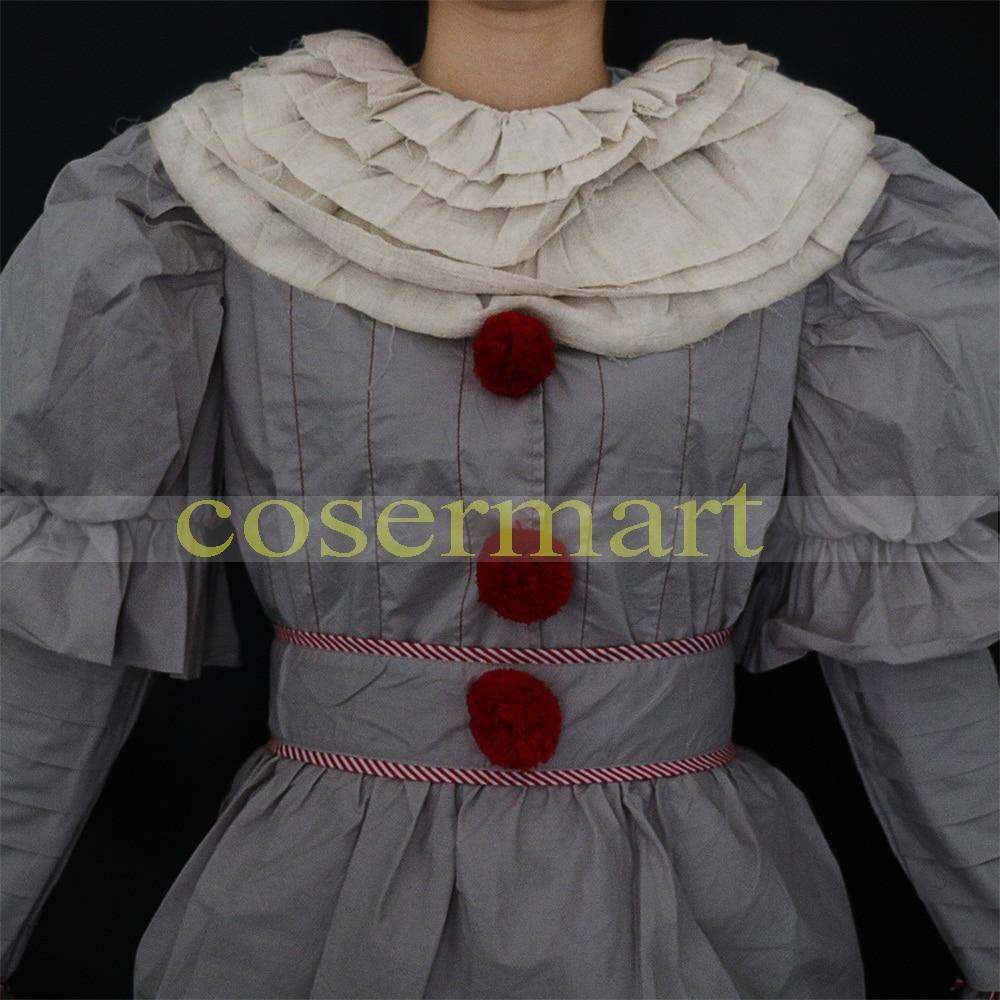 Pennywise Cosplay Costume Stephen King's Mask Men Costume Pennywise Mask Clown Costume Halloween Terror Costume Masquerade - bfjcosplayer