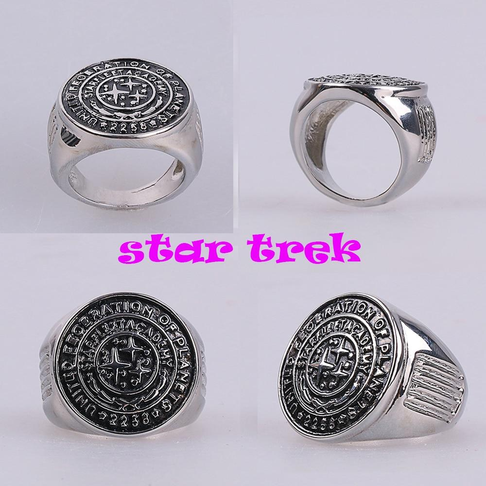 Star Trek Ring Star Trek Into Darkness Starfleet Academy Ring Accessories Cosplay Metal Rings Man Woman Ring Halloween Party - bfjcosplayer