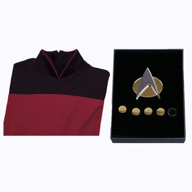 Star Trek Cosplay Costumes Jumpsuit and Free Badge Halloween stage Clothes Carnival Christmas Gift Adult Uniforms - bfjcosplayer