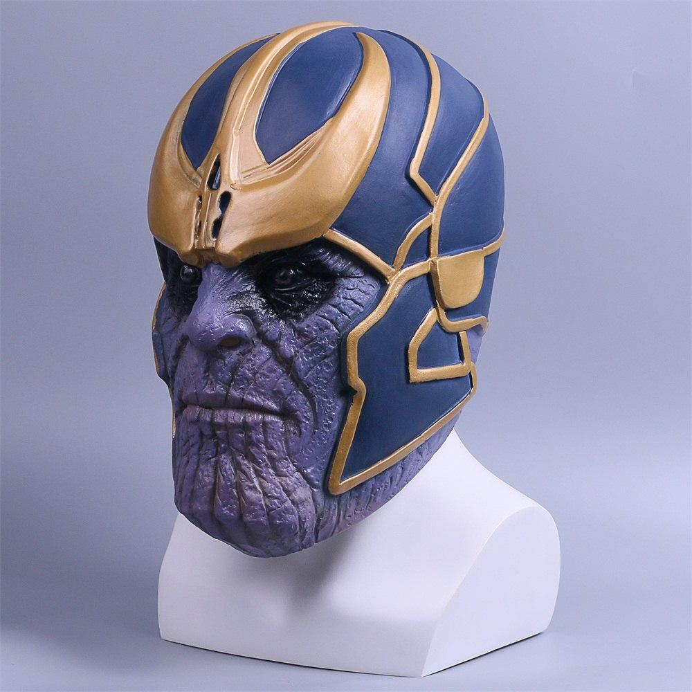 2018 Avengers Infinity War Mask Thanos Mask Cosplay Full Head Latex Super Hero Costume Halloween Party Prop - bfjcosplayer