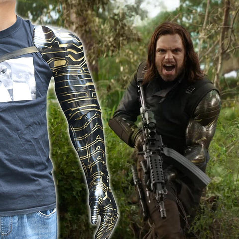 2018 Movie Avengers: Infinity War Cos Winter Soldier Arm Bucky Barnes Cosplay Costume Superhero Halloween Party New - bfjcosplayer