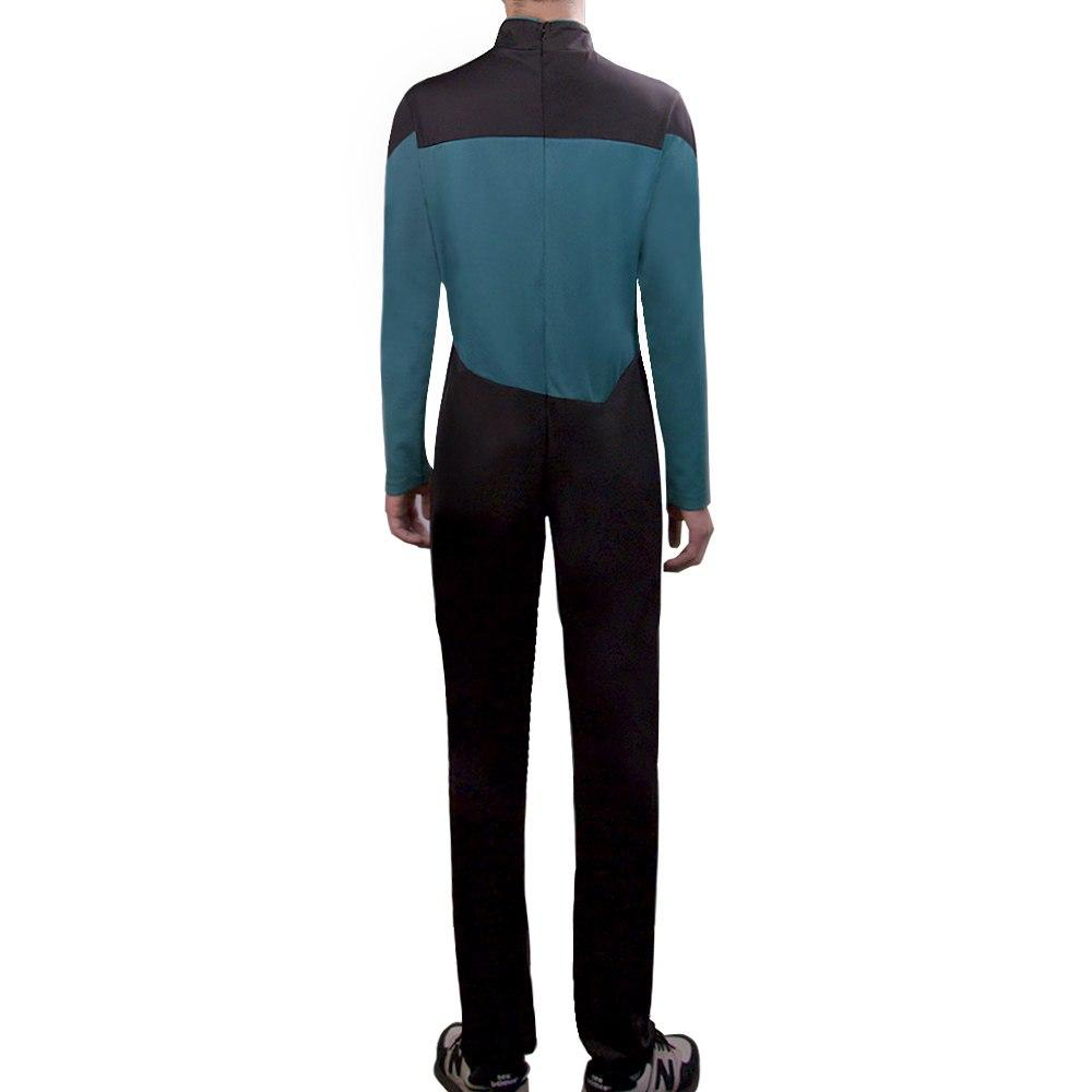 Star Trek Jumpsuit Cosplay Costume Blue Halloween Uniform For Women Men - bfjcosplayer