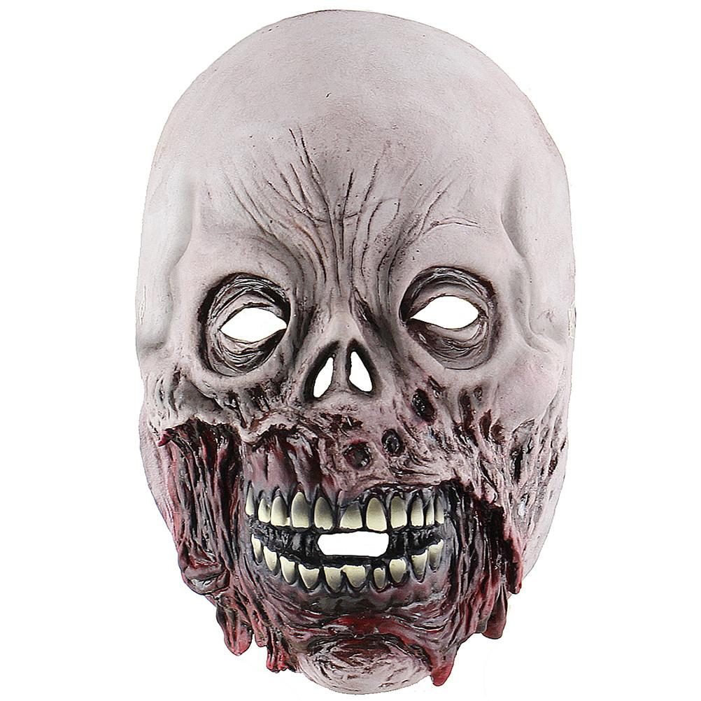 Halloween Horror Adult Zombie Ghost Mask Scary Costume Party Props Costume Screaming Corpse Head Mask - bfjcosplayer