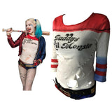 Batman Arkham Asylum City 2016 Suicide Squad Harley Quinn Costume T Shirt Daddy's Lil Monster T-Shirt Joker Cosplay Costumes - bfjcosplayer