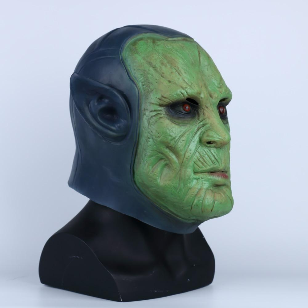 2019 Captain Marvel Mask Cosplay Skuru Talos Halloween Mask Handmade Props Latex Adult Prop - bfjcosplayer