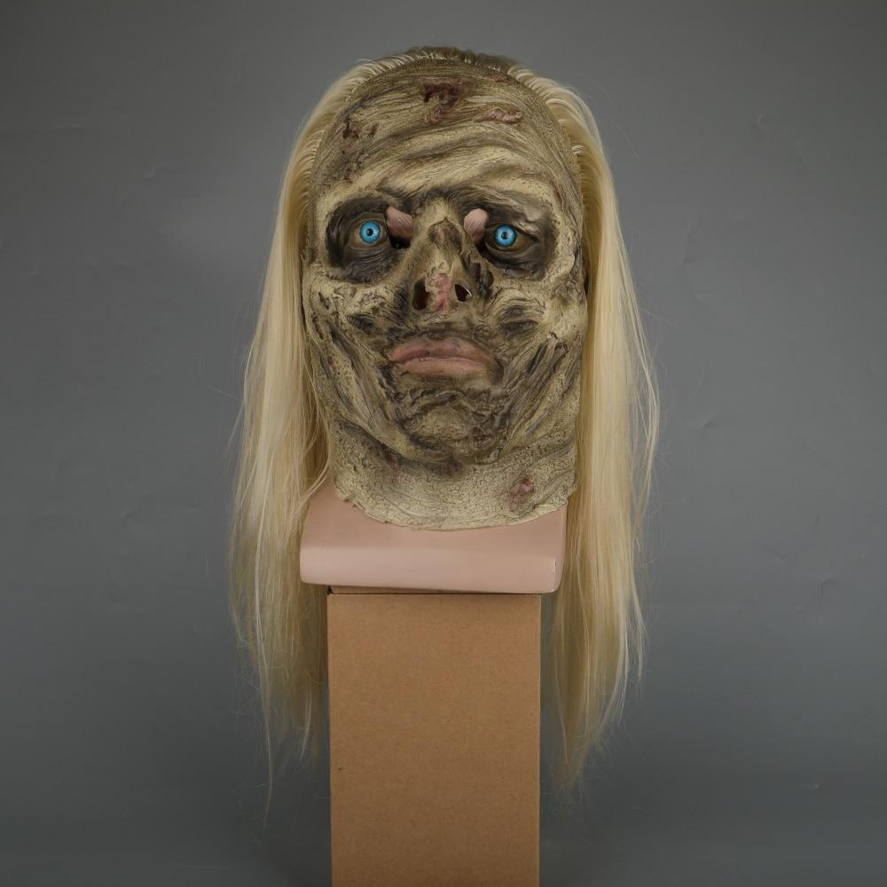 Zombie Mask The Walking Dead Alpha Whisper Dead Walkers Halloween Mask Latex Props New Cosplay Scary Mask - bfjcosplayer