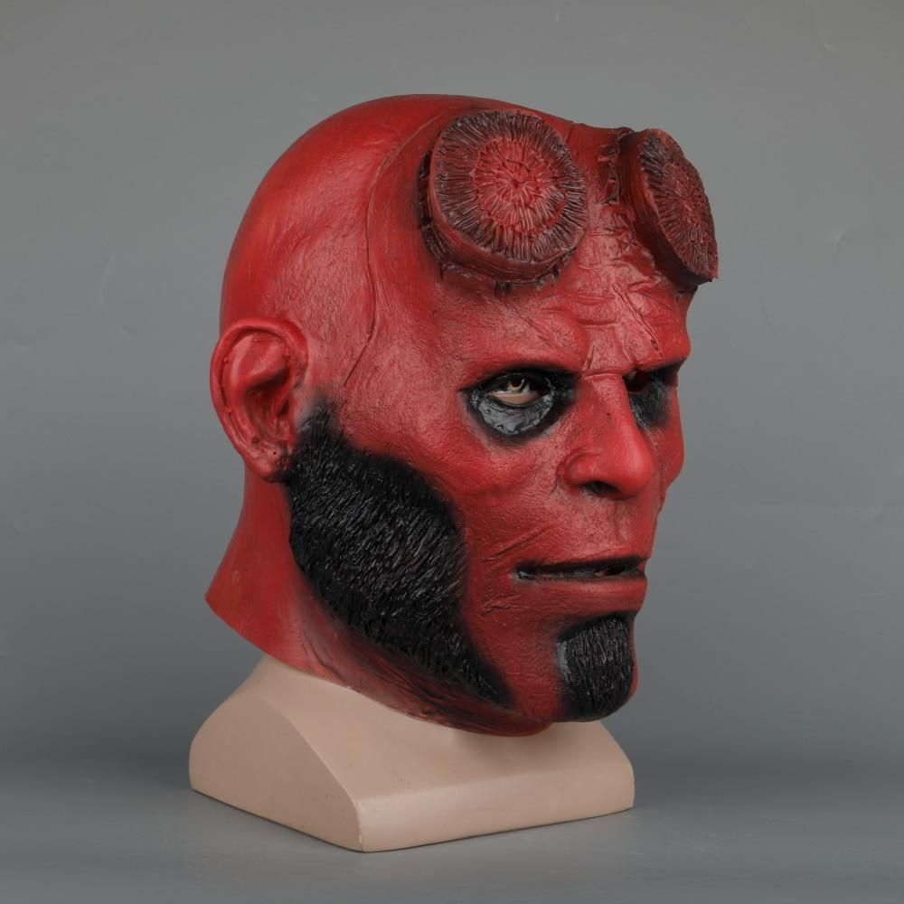 Hellboy Mask Latex Masquerade Carnival Costume Masks Hood Cosplay Mask Halloween Party Prop - bfjcosplayer