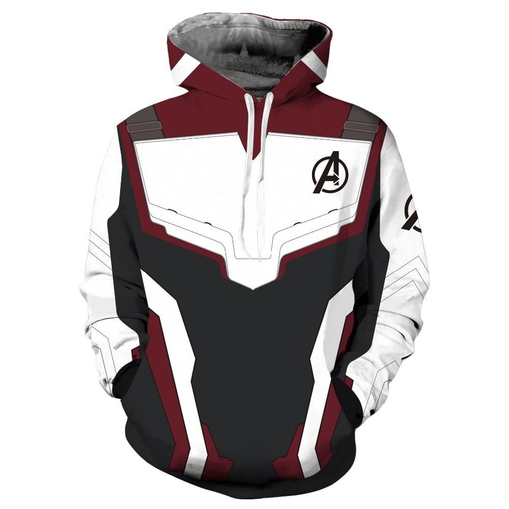 2019 New Hoodie Unisex Avengers 4 Endgame Quantum Realm Sweatshirt Jacket Advanced Tech Hoodie Cosplay Costumes - bfjcosplayer