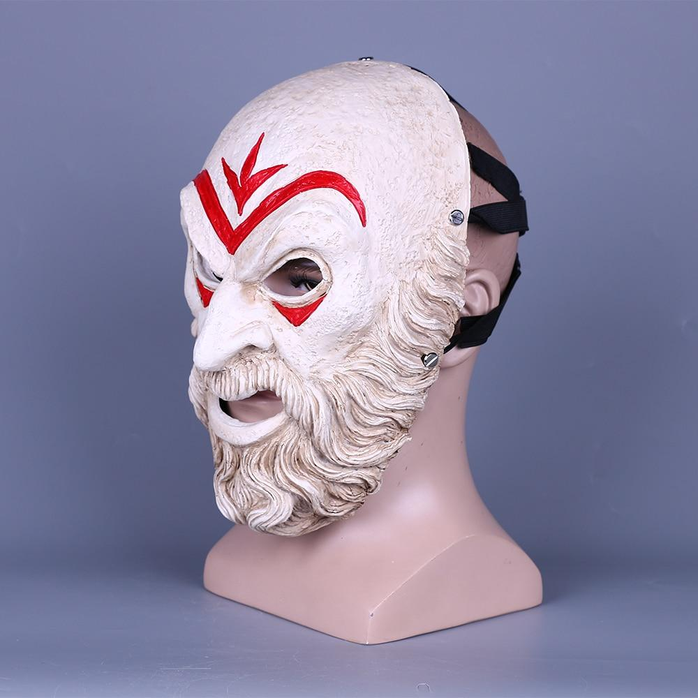 Game Assassin AC Zeio Creed Odyssey Hierarch Mask Resin Cosplay Accessories Halloween Props Prom Party Resin Mask Gift - bfjcosplayer
