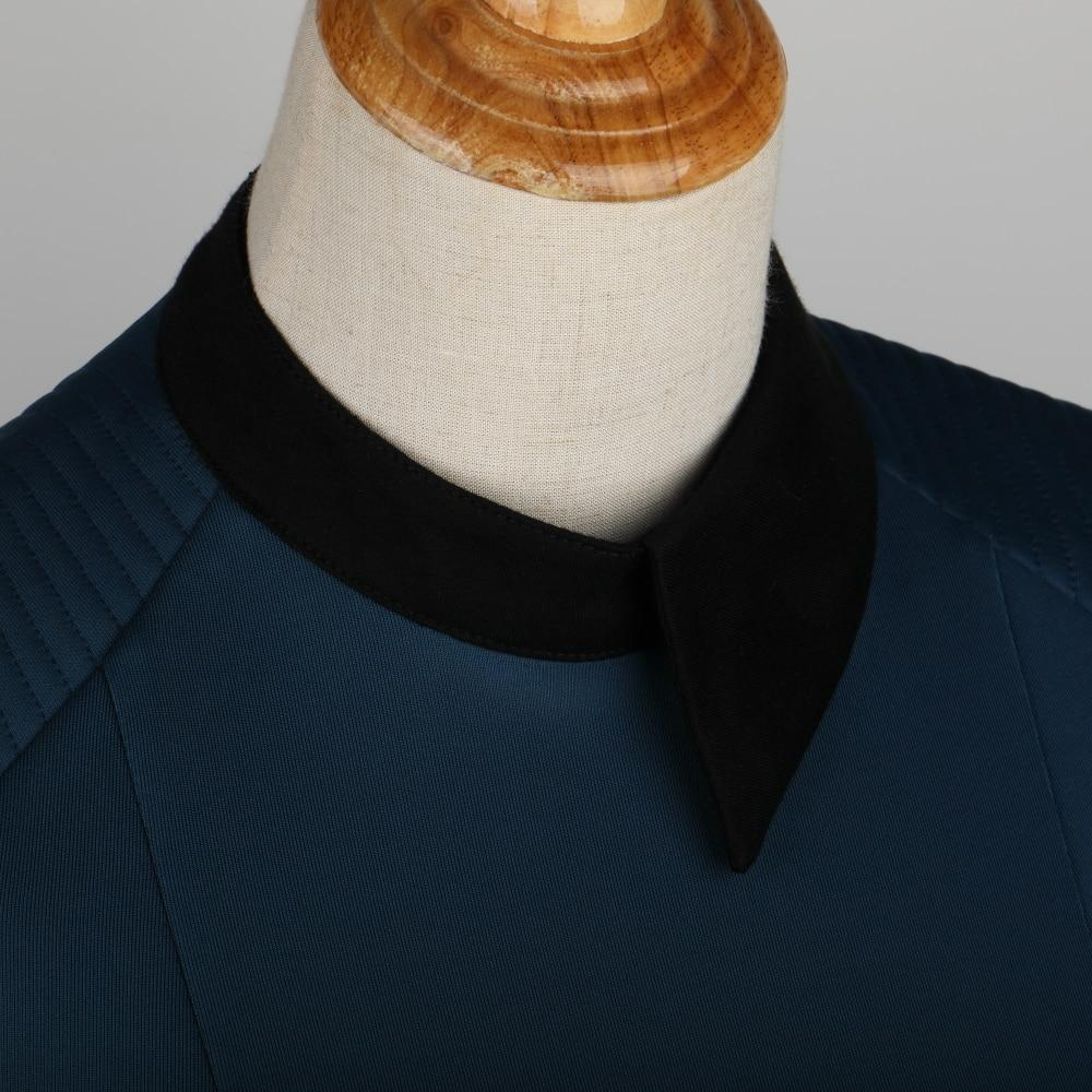 New Star Trek Discovery Season 2 Starfleet Commander Female Blue Uniform Dress Badge Costumes Woman Adult Cosplay Costume - bfjcosplayer