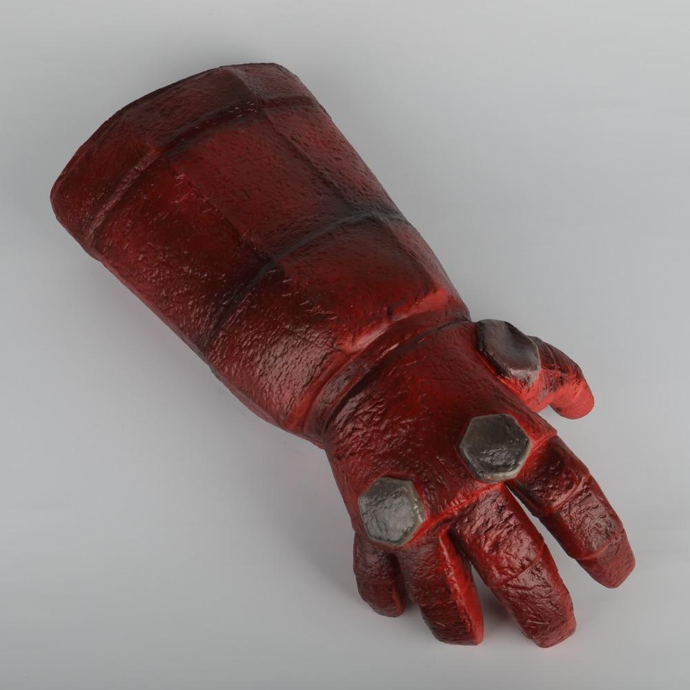 New Movie Hellboy: Rise of the Blood Queen Glove Right Hand Cosplay Gloves Armor Latex Hand Gauntlet Party Halloween - bfjcosplayer