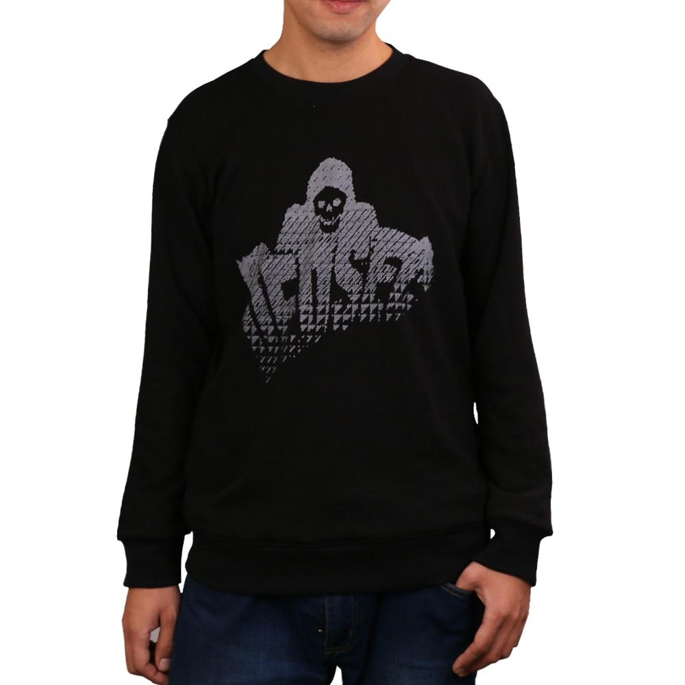 Game Watch Dogs 2 Marcus Holloway Long Sleeve Hoodies Men's Cosplay 100% Cotton Black Sweatshirts Halloween Christmas Gift - bfjcosplayer