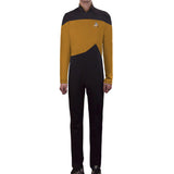 Star Trek Yellow Jumpsuit Unisex Adult Cosplay Costume Halloween Uniform - bfjcosplayer