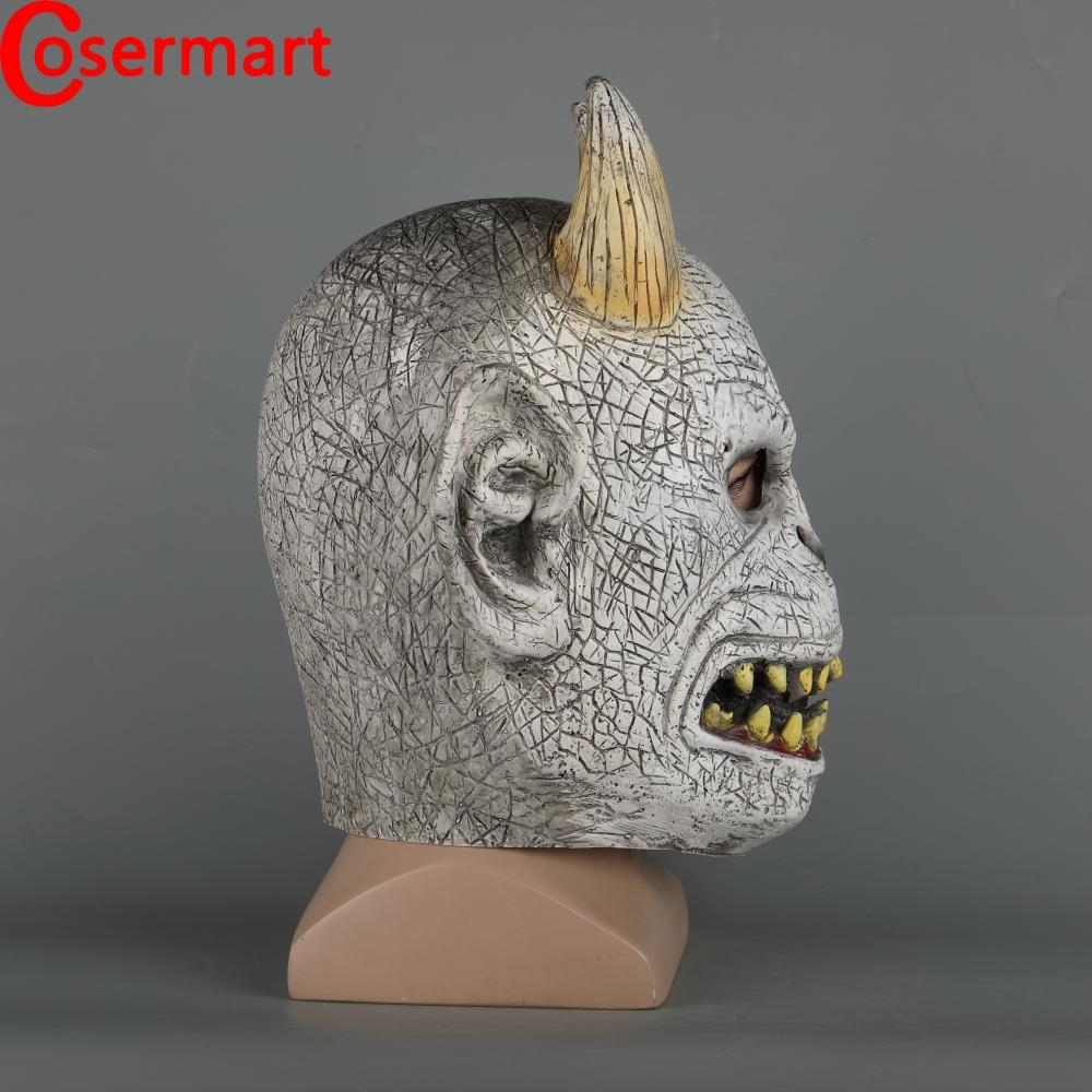 Cosermart Scary Demon Devil Horror Halloween Latex Mask With Horn Cosplay Prop Masquerade Mask Adult - bfjcosplayer