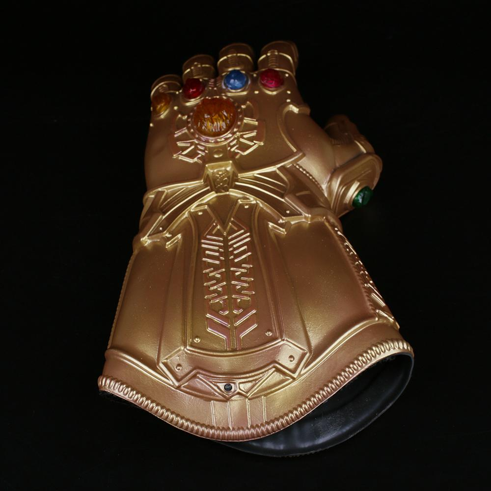 1:1 Thanos Infinity Gauntlet Avengers Infinity War Gloves With Led Light Cosplay Thanos Glove Halloween Party Props Deluxe - bfjcosplayer