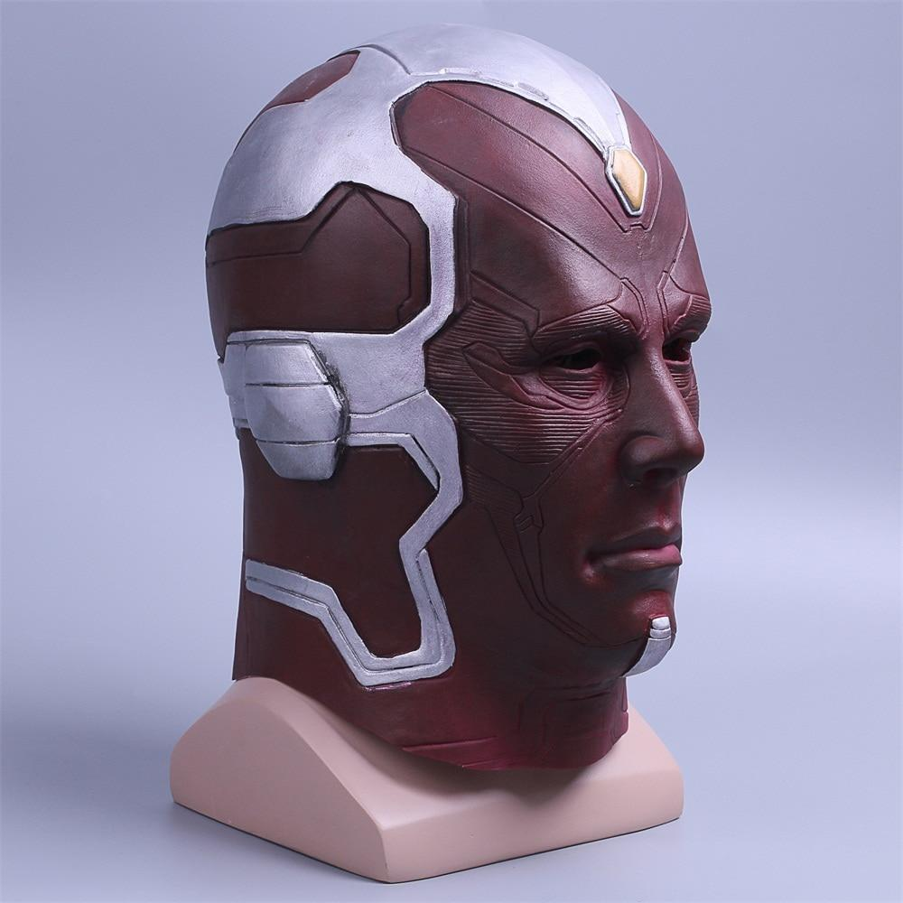 Avengers: Infinity War Mask Vision Mask Superhero Mask Full Head Halloween Helmet Latex New - bfjcosplayer