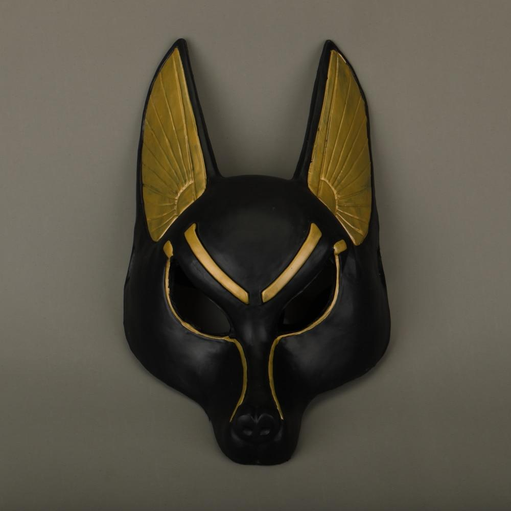 Egyptian Anubis Cosplay Face Mask Latex foam Canis spp Wolf Head Animal Masquerade Props Party Halloween Fancy Dress Ball - bfjcosplayer