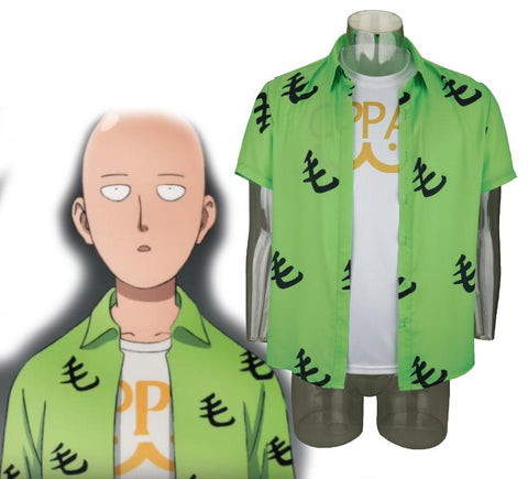 2019 Anime One Punch Man Saitama Mao Shirt Oppai Tee Outfit T-Shirts Cosplay Costume Halloween Party - bfjcosplayer