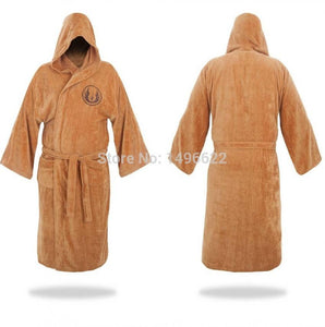 Star Wars Bathrobe Cosplay Star Wars Knight Jedi Bathrobe Brown Bathing Pajamas Cosplay Costumes - bfjcosplayer