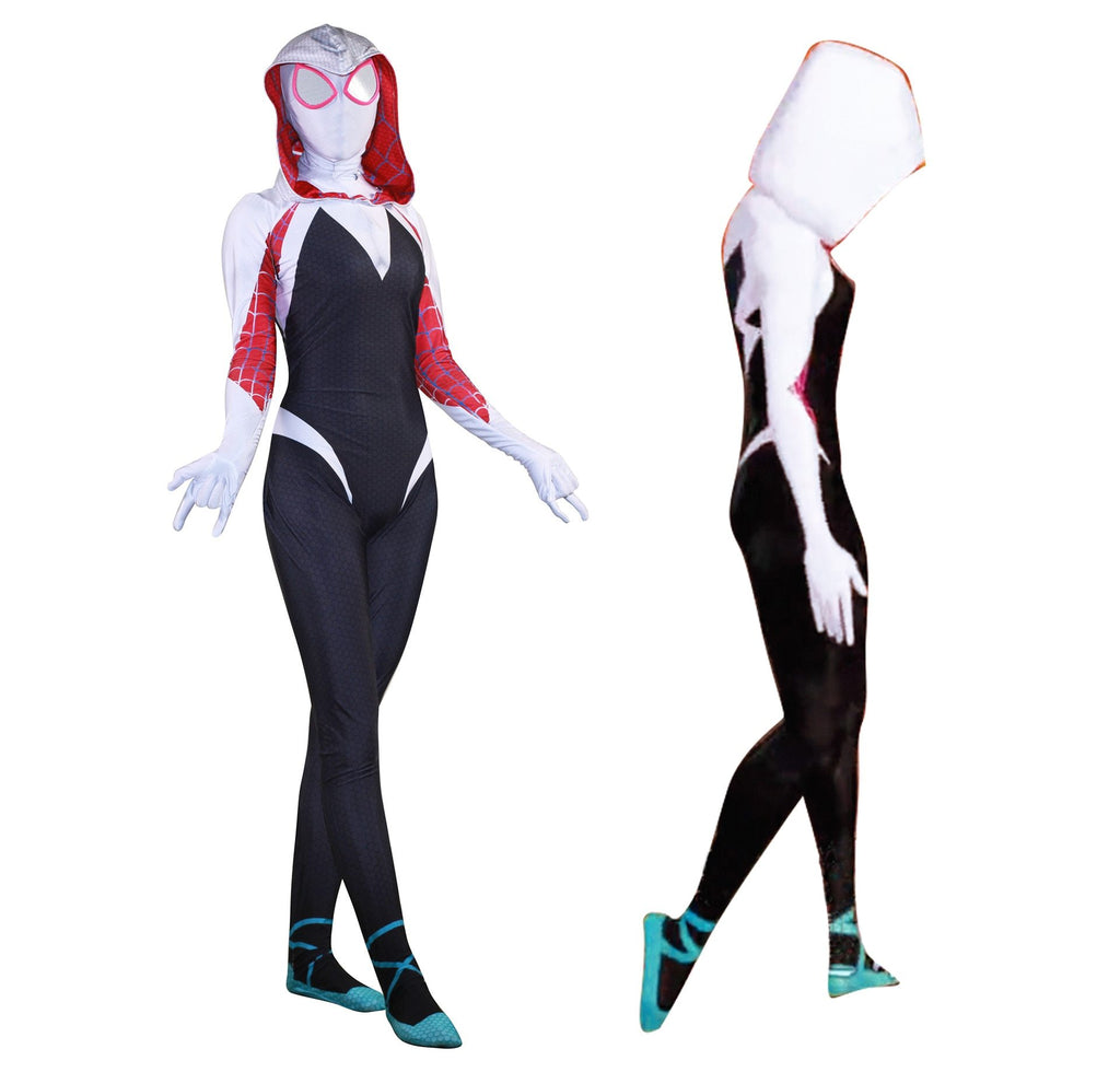 New 3D Women Gwen Stacy Spider-man Tights Cosplay Costume Spiderman Zentai Superhero Bodysuit Suit Jumpsuits - bfjcosplayer