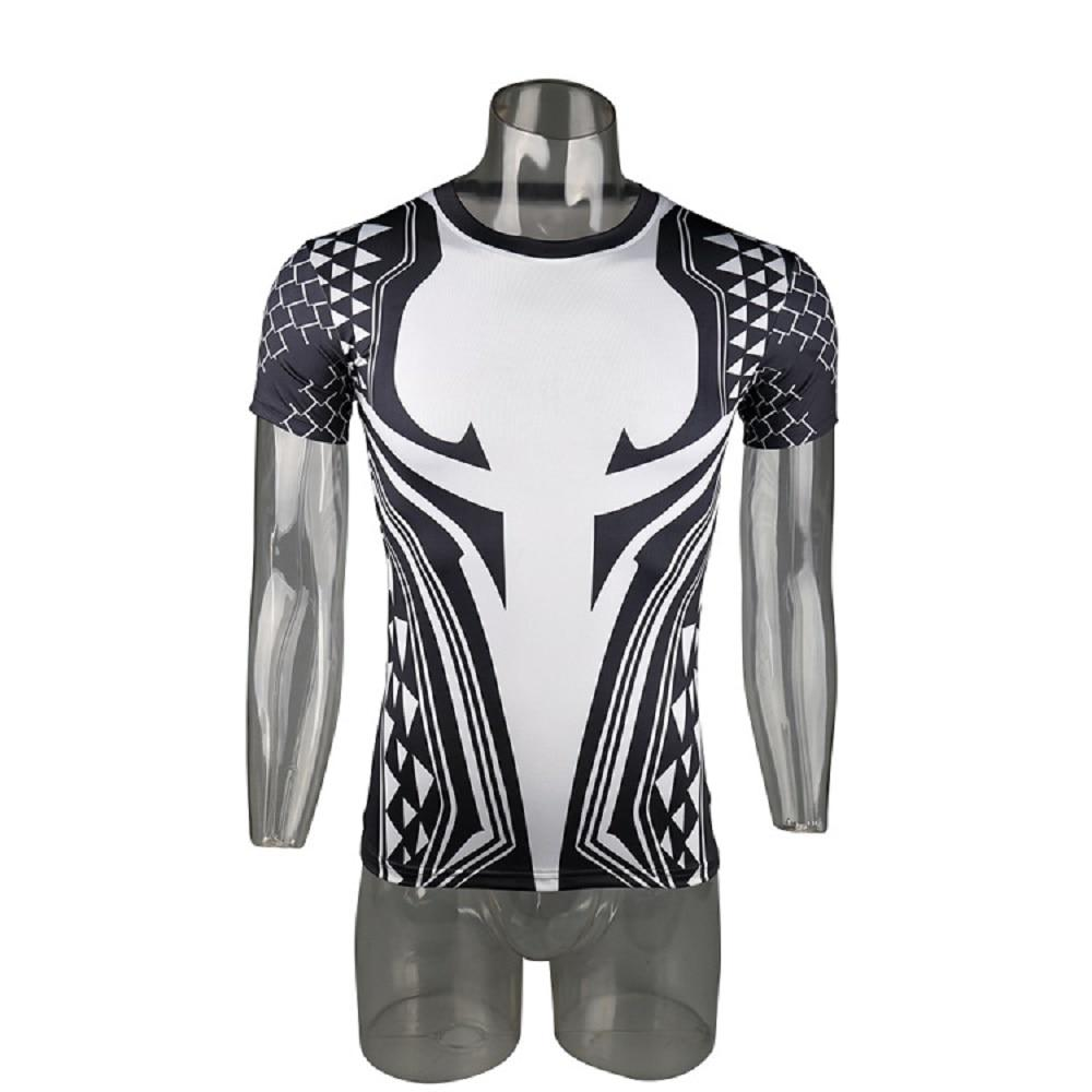 Aquaman 3D Printed T shirts Men Compression Shirt 2018 Newest Character Cosplay Costume Short Sleeve Tops For Male Clothing - bfjcosplayer