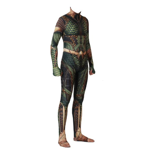 Marvel Aquaman Cosplay Halloween Costume Zentai 3D Print Arthur Curry Orin Superhero Bodysuit Suit Jumpsuits Cloak - bfjcosplayer