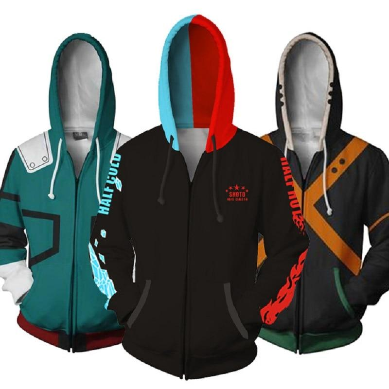 Anime Boku No My Hero Academia Cosplay Costumes Hoodies H Sweatshirts Bakugou Todoroki Shoto Spring Jacket Coat - bfjcosplayer