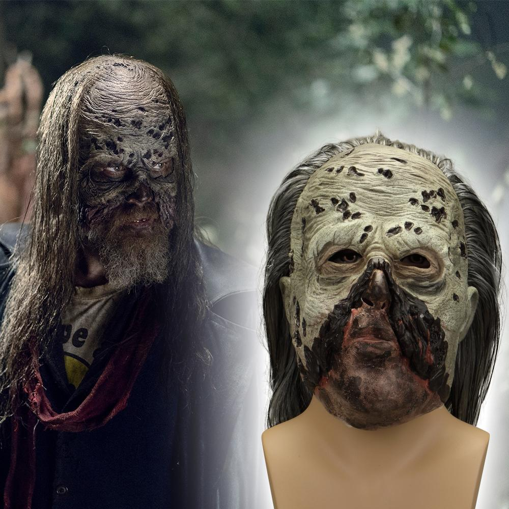 Zombie Mask Cosplay The Walking Dead Whisperers Beta Mask Latex Halloween Scary Masks - bfjcosplayer