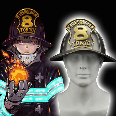 2019 Anime Enn Enn No Shouboutai Fire Force Helmet Cosplay Firesoldier 8 helmet Halloween Party - bfjcosplayer