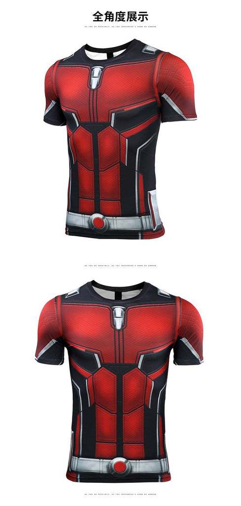 Ant Man 3D Printed T shirts Men Avengers 4 Endgame Compression Shirt Cosplay Costume Tigths Short Sleeve Tops For Male - bfjcosplayer