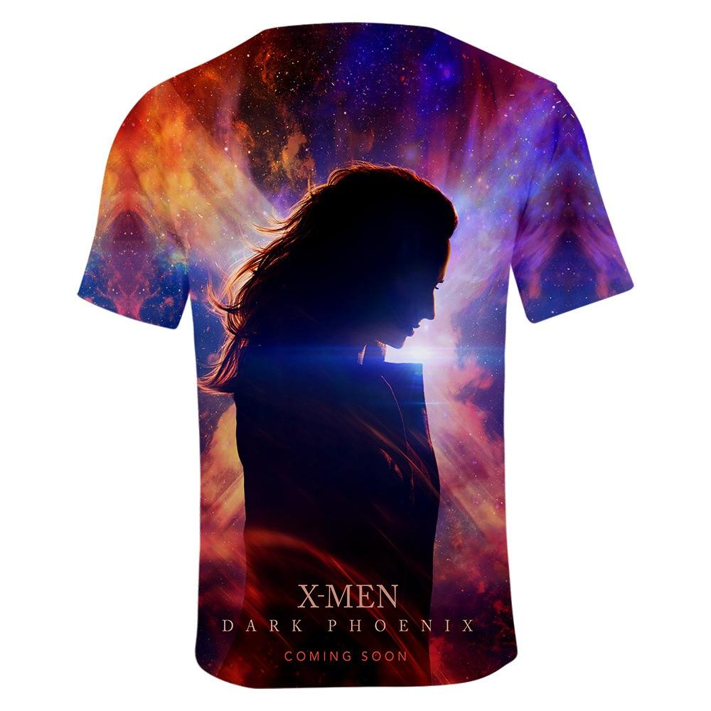 2019 Cosplay Costume X-Men: Dark Phoenix T-shirt Tops Men's Women's Jean Grey Shirts Tee for Adults Women Men Halloween Party - bfjcosplayer