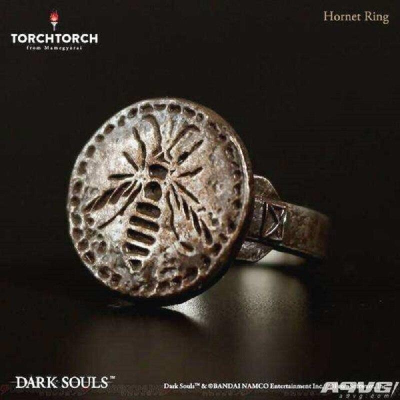 #10 Game Dark Soul 3 Rings Hornet Ring Metal Luxury Weapon Equipment Dark Soul Accessories Souvenir Halloween Party Prop - bfjcosplayer