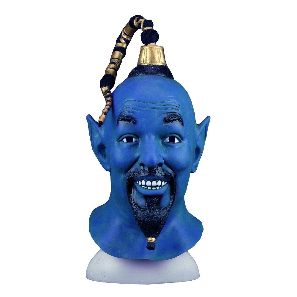 Cosplay 2019 Movie Aladdin and The Magic Lamp Mask Latex Blue Elf Halloween Mask Props - bfjcosplayer