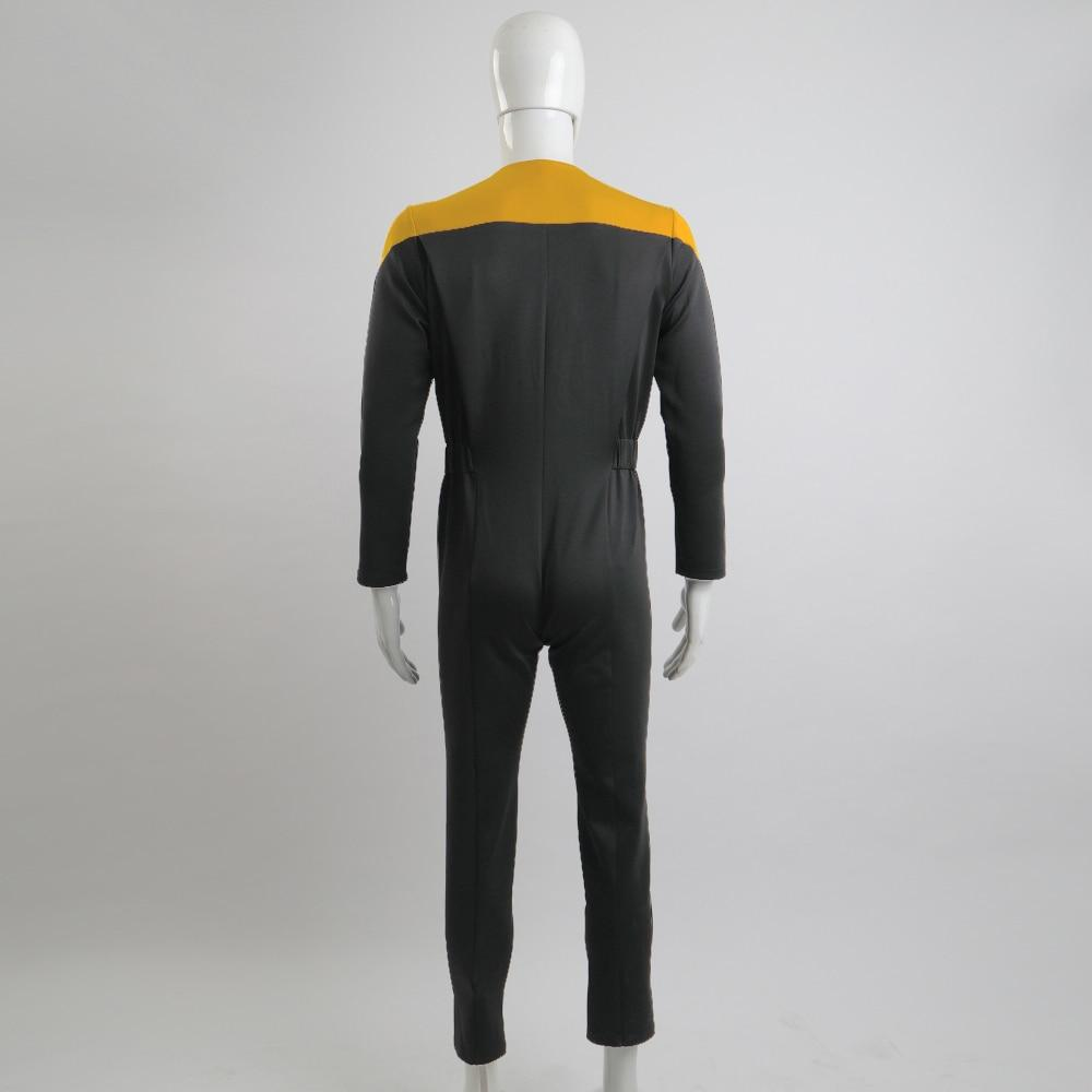 star trek Deep Space Nine Trek Commander Sisko Duty Uniform Jumpsuit Yellow Cosplay Costumes Halloween Party Prop - bfjcosplayer