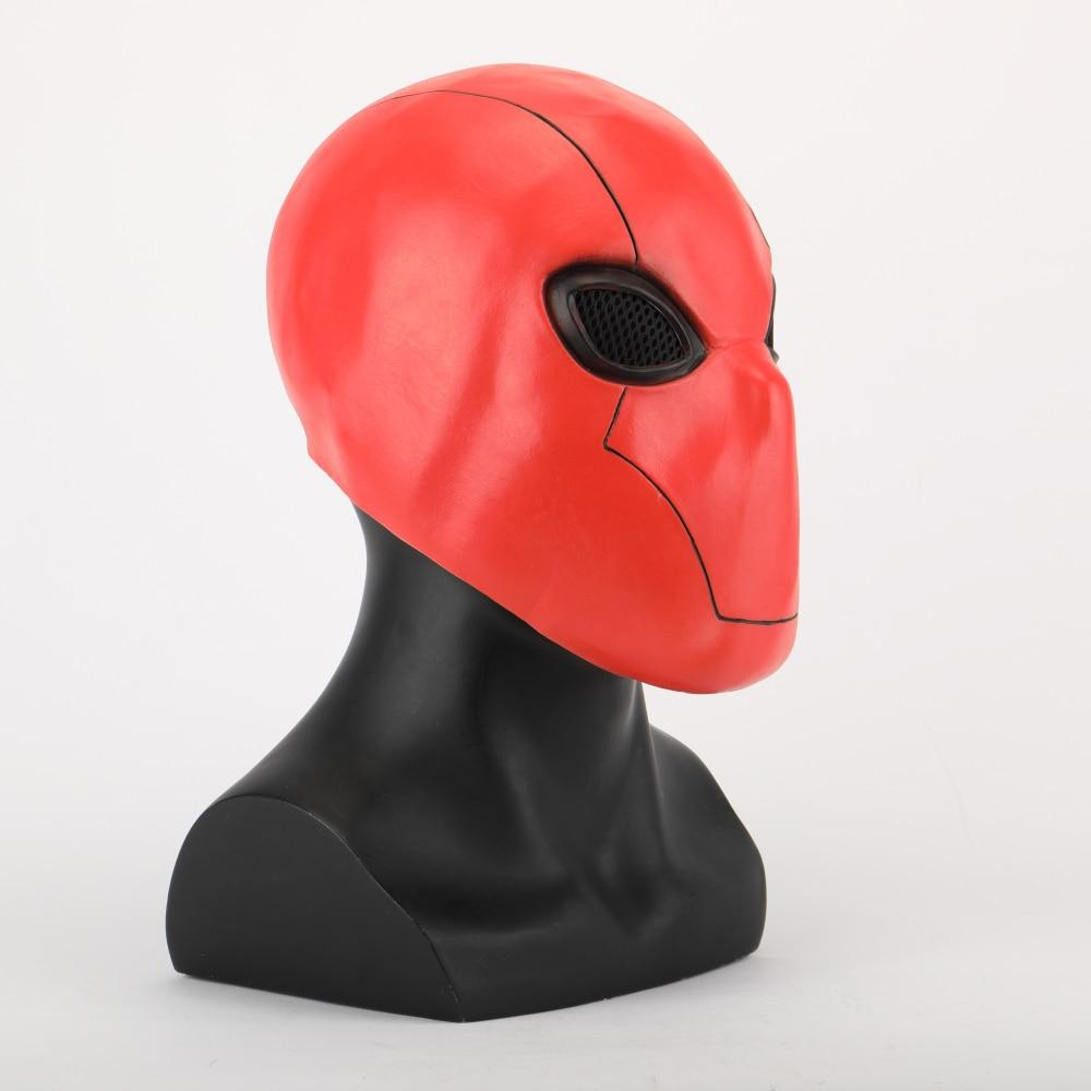Red Hood Mask Latex Marvel Superhero Masks Helmet Full Head Unisex Adult Halloween Party Prop - bfjcosplayer