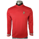 Star Trek Beyond Sulu Cosplay Red Uniform Halloween Party Costume