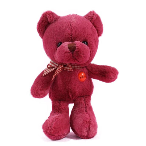 Peluche Ours Rouge Vin