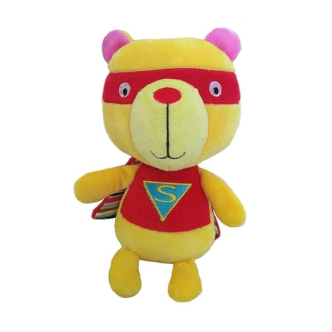 Peluche Ours Jaune Superman