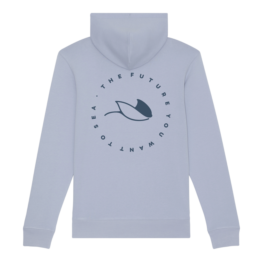 Sudadera Vegana Alongside MantaRay Azul