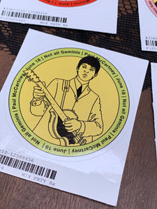 Paul McCartney Gemini Sticker