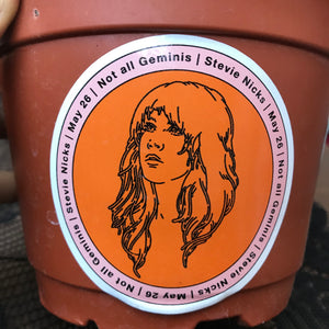 Stevie Nicks Gemini Sticker