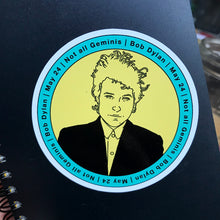 Load image into Gallery viewer, Bob Dylan Gemini Sticker