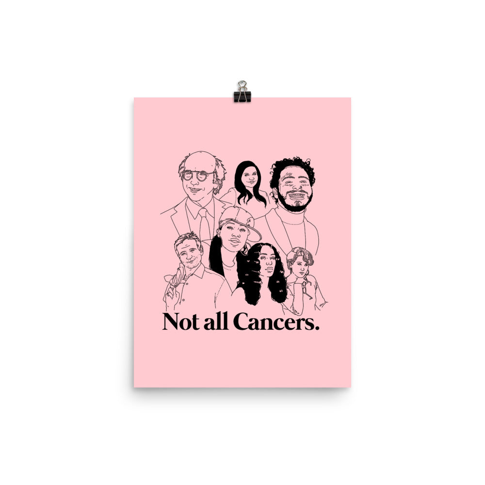 Not All Cancers Poster - Pink