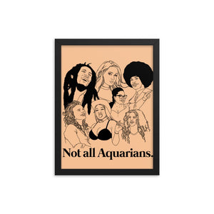 Not All Aquarians Icons Framed Poster